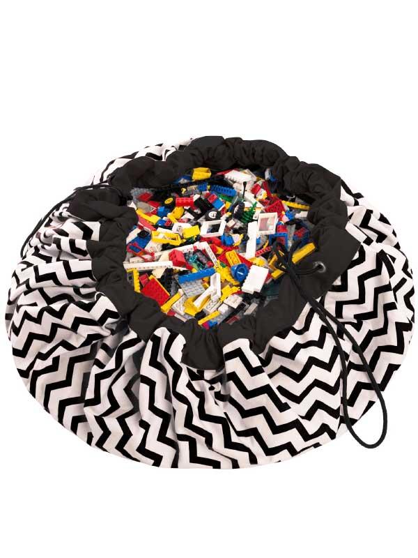 Play Amp Go Playmat Storage Bag Zickzack Schwarz